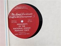 1964 STL Cardinals World Champions Vinyl Record