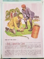 (8) RARE General Mills History Of Golf Posters