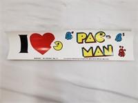 Vintage I Love Pac Man Bumper Sticker
