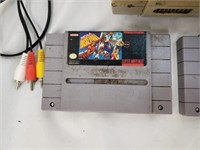 Super Nintendo With Controller And Three Games