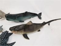 Aquatic Animal Toy Figurines Sharks Whales