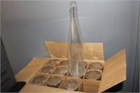 12 Glass Wine Bottles