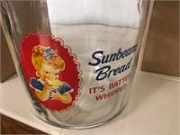 Sunbeam Bread Glass Store Counter Jar