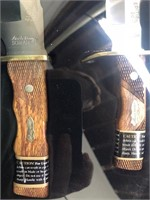 New Uncle Henry 2pc Bowie Knife Set in Tin