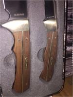 New 2 pc Old Timer Sawcut Style Handle Knife Set