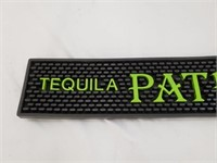 Green Tequila Patron Rubber Bar Mat