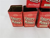 14 Haupt Mann's Fragrant Tin Cans Without Lids
