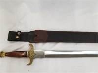 Sword With Sheath And Wooden Handle