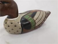 Three Vintage Hand Painted Wooden Duck Figurines