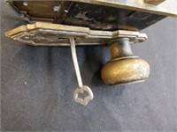 Antique Brass Hardware Door Knob, Lock And Key