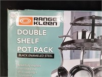 Range Kleen Wall Mounted Double Shelf Pot Rack
