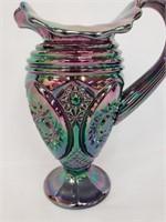 Black Amethyst Fenton Carnival Glass Vase