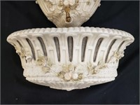 Vintage Chalkware Water Fountain Wall Décor