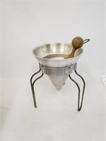 Vintage Wear- Ever Aluminum Sieve And Stand