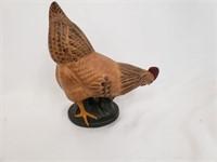 Made In USA Wooden Hen Chicken Figurine