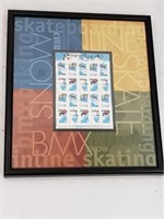 Framed Xtreme Sports US Stamps