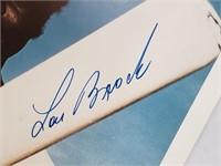 Lou Brock Signed St Louis Cardinals Photo