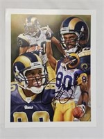 Isaac Bruce St Louis Rams Retirement Signed Photo