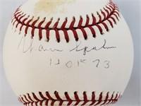 Warren Spahn HOF73 Signed Official Baseball