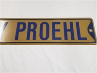 Ricky Proehl St Louis Rams Street Sign