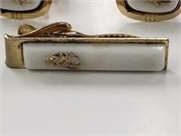 Vintage 3 Piece Elephant Cufflinks & Tie Clip