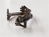 .925 Sterling Silver Frog Ring Size 7