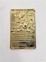 Pokemon 23K Gold Plated Mewtwo