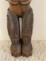 Wooden Carved Tribal Statue-Opal Eyes