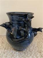 Hand Made Stoneware Glaze Vase-Signed