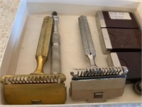 Lot of Antique Gents Shavers and Blades