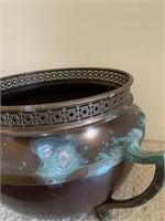 Large Copper Handled Urn