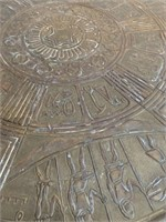 Mayan Hand Hammered Top Side Table