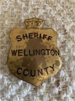 Wellington County Sheriff Badge