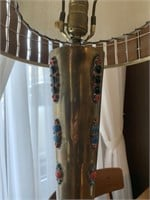 Large Decorated Mid Century Lamp