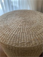 Rattan Storage Footstool
