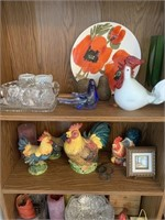 Large Lot of Home Decorator Items and Shelf