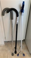 Lot of Two Canes and Litter Grabber