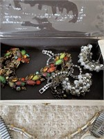 Lot of Many Costume Jewelry Pieces and Watches