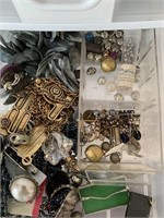 Large Lot of Jewelry and Storage Boxes