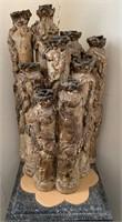 Large Artisan Waxed Bottle Modern Art Piece