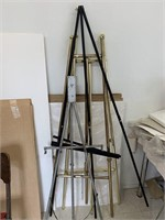 Lot of Art Easels as Found