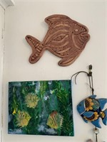 Lot of Hand Painted Decorator Items