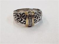 Costume Gold & Silver Toned Ring SZ 9