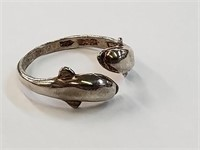 .925 Sterling Silver DAC Dolphin Ring