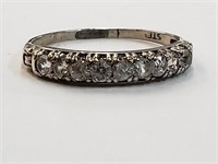 .925 Sterling Silver Ring w/ CZ Stones Size 8.5