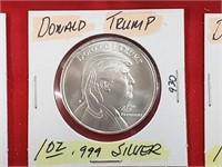 1 oz .999 Silver Donald Trump Round Bullion