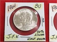 BU Proof 90% Silver 1964 Kennedy Half Dollar