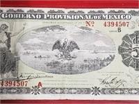 1914 5 Peso Mexico Note