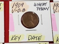 KEY DATE 1909 VDB Wheat Penny Cent