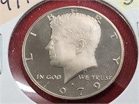 1979-S Open & Closed S Kennedy Half Dollars Clad